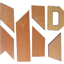 Letter D Puzzle - Other Wood Puzzles