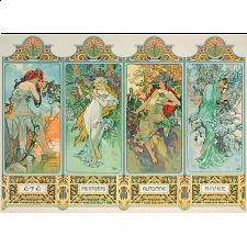 Alphonse Mucha - The Four Seasons (variant 3) - 1000 Pieces