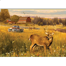 Deer Field - Large Piece -