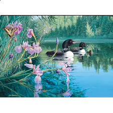 Iris Cove Loons - Large Piece -