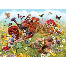 Garden Scene - Family Pieces Puzzle - Large Piece Jigsaws