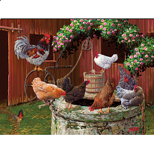 The Chickens Are Well - Large Piece -