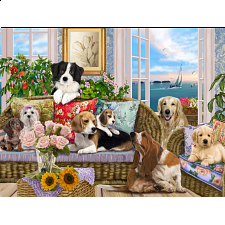Dogs on the Sofa -
