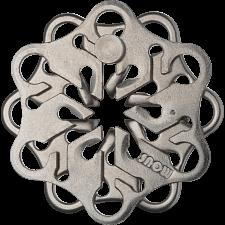 Cast Snow - Hanayama Metal Puzzles