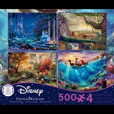Thomas Kinkade: Disney 4 in 1 Jigsaw Puzzle Collection #6 -