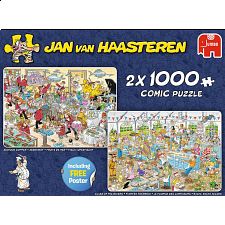 Jan van Haasteren Comic Puzzles: Food Frenzy - 2 x 1000 Pieces - Search Results