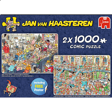 Jan van Haasteren Comic Puzzles: Happy Holidays -2 x 1000 Pieces - Search Results