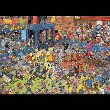 Jan van Haasteren Comic Puzzle - Roller Disco -