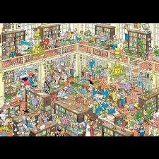 Jan van Haasteren Comic Puzzle - The Library -