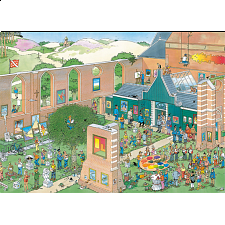 Jan van Haasteren Comic Puzzle - The Art Market - 1001 - 5000 Pieces