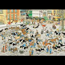 Jan van Haasteren Comic Puzzle - The Cattle Market -