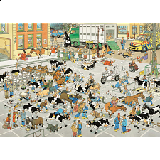 Jan van Haasteren Comic Puzzle - The Cattle Market - 1001 - 5000 Pieces