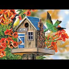 Trumpet Vines & Tree Sparrows - Large Piece Family Puzzle -