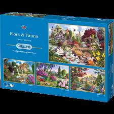 Flora & Fauna - 4 x 500 Piece Jigsaw Puzzles - Jigsaws