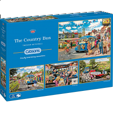 The Country Bus - 4 x 500 Piece Jigsaw Puzzles - Jigsaws