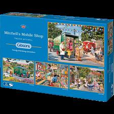 Mitchell's Mobile Shop - 4 x 500 Piece Jigsaw Puzzles - Jigsaws