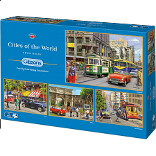 Cities of the World - 4 x 500 Piece Jigsaw Puzzles - New Items