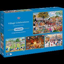 Village Celebrations - 4 x 500 Piece Jigsaw Puzzles - Jigsaws