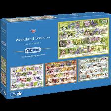 Woodland Seasons - 4 x 500 Piece Jigsaw Puzzles - Jigsaws