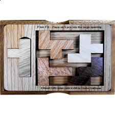 Five Fit - Small Version with Cover - Other Wood Puzzles
