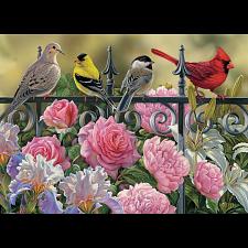 Birds on a Fence -
