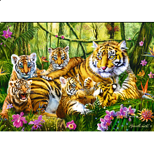 Family of Tigers - Jigsaws