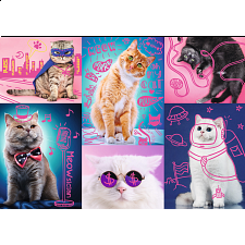 Neon Color Line: Super Cats -