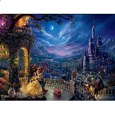 Thomas Kinkade: Disney - Beauty & The Beast Dancing- Large Piece - 101-499 Pieces