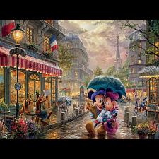 Thomas Kinkade: Disney - Mickey & Minnie in Paris - Large Piece -