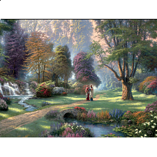 Thomas Kinkade: Inspirations - Walk of Faith - Large Piece - 101-499 Pieces