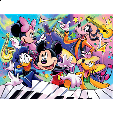 Together Time: Disney Mickey Music - Family Pieces Puzzle - 101-499 Pieces