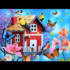 Red Birdhouse -