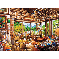 Rustic Lodge: Fishing Map and Guide - 1000 Pieces