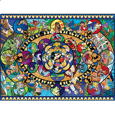 Disney: Oval Stained Glass -