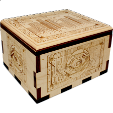 Hurricane Puzzle Box - City Circuit Board -