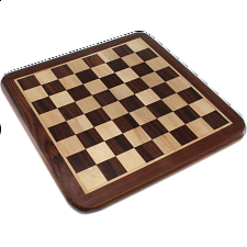 10 Inch Rosewood Chess Board - Minor Imperfections - Games & Toys