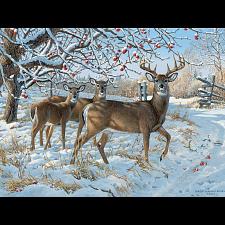 Winter Deer - Large Piece -