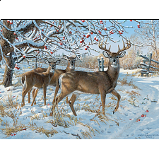 Winter Deer - Large Piece -