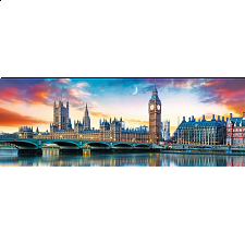 Panorama: Big Ben and Palace of Westminster, London -