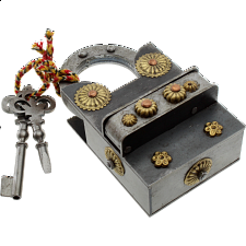 15 Step Extreme - 2 Key Puzzle Lock - Metal Puzzle Locks