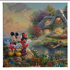 Thomas Kinkade: Disney - Mickey and Minnie: Sweetheart Cove -