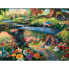 Thomas Kinkade: Disney - Alice in Wonderland -