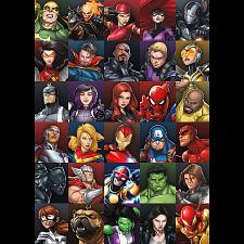 Marvel Heroes Collage -