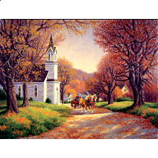 Road By The Church -