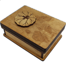 Lotus Box - Wooden Puzzle Box -