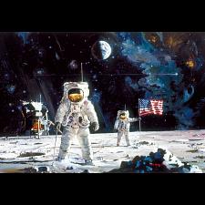 First Men on the Moon, Robert McCall -