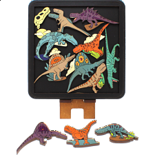 Carnivorous Dinosaurs - Wooden Packing Puzzle -