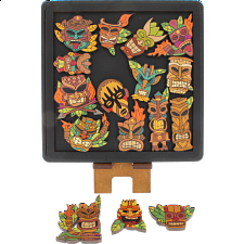Masks - Wooden Packing Puzzle -