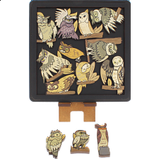 Owls - Wooden Packing Puzzle -