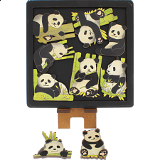 Pandas - Wooden Packing Puzzle -